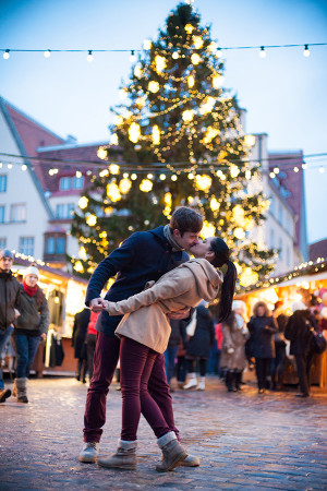 christmas romantic Tallinn photo shooting