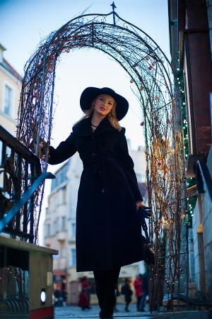 фотосессия с моделью в кафе Таллина